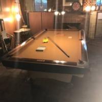 "FAB 1960 Brunswick Aqua Chrome ""Gold Crown"" Pool Table"